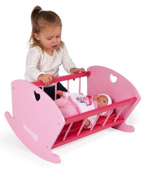 Berceau rose pour fille pour jouer à la poupée