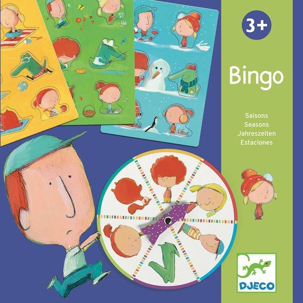 Jeu du bingo sur le thème des saisons pour les enfants