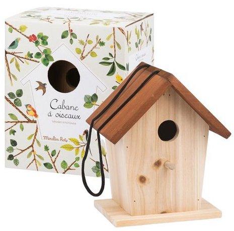 Cabane à oiseaux en bois pour enfants