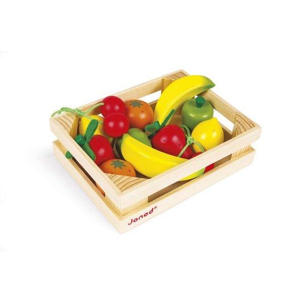 Fruits en bois pour jouer dinette enfant