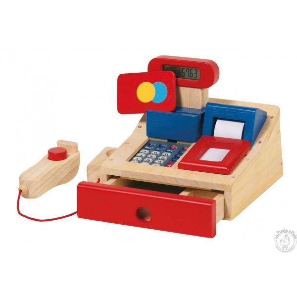 Caisse enregistreuse en bois jouet enfant
