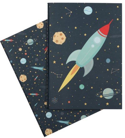 Carnets et cahier sur le thème de l'espace