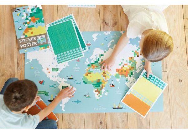 carte du monde poppik