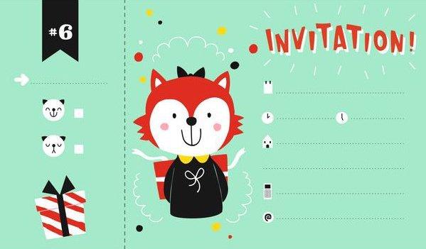 Carton d'invitation pour prévenir d'un anniversaire d'enfant