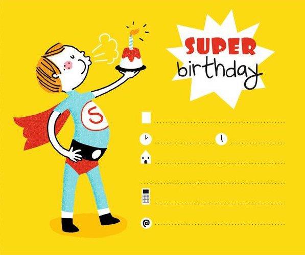 Invitation super héros pour un garçon