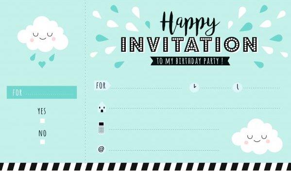 Carte d'invitation pour l'anniversaire d'un enfant
