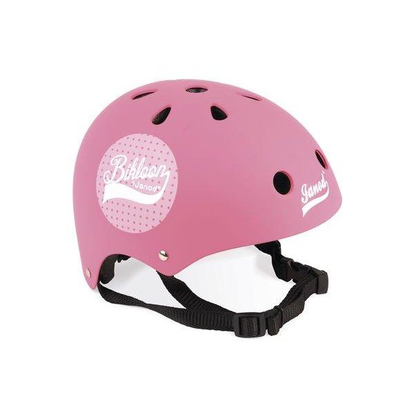 casque rose pour draisienne janod