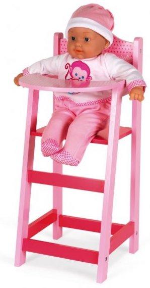 Chaise haute en bois pour jouer à la poupée