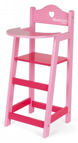 Chaise haute rose pour jouer à la poupée