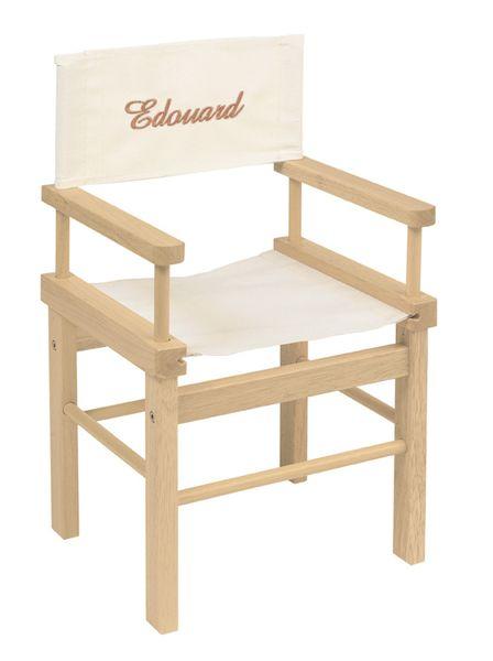Petite chaise de cinéma pour enfant personnalisable