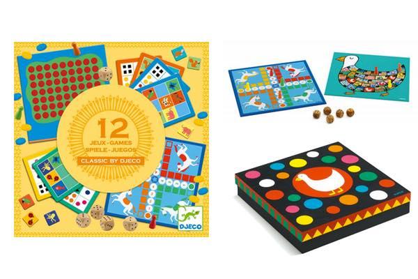 boîte de 12 jeux classic box djeco