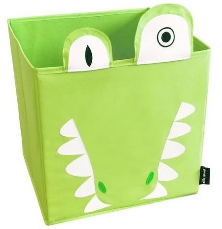 Coffre à jouets vert en tissu pour ranger