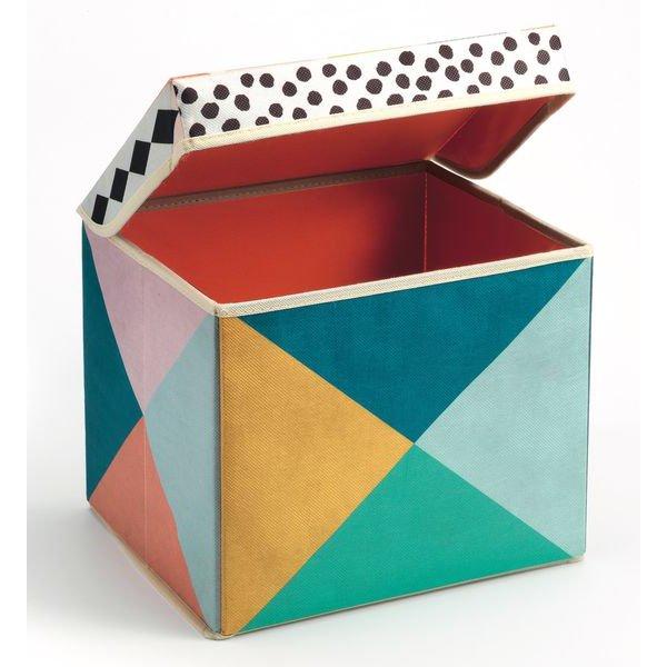 Coffret pour ranger les jouets motifs géométrique
