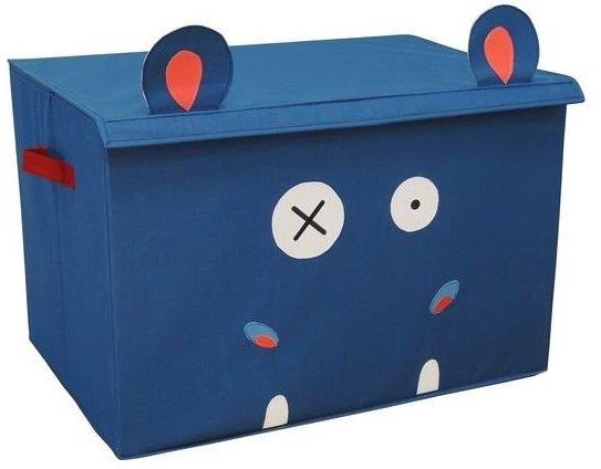 Coffre bleu pour ranger les jouets