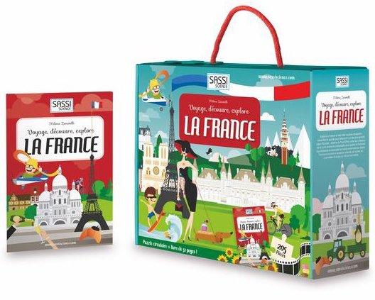 Puzzle et livre éducatif sur notre pays la France