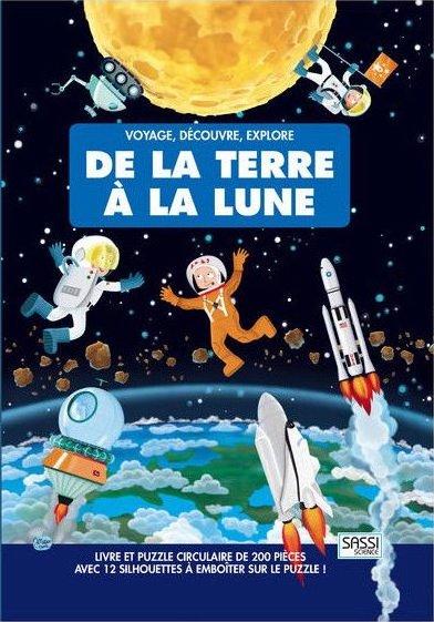 Coffret avec un livre éducatif et un puzzle sur l'espace