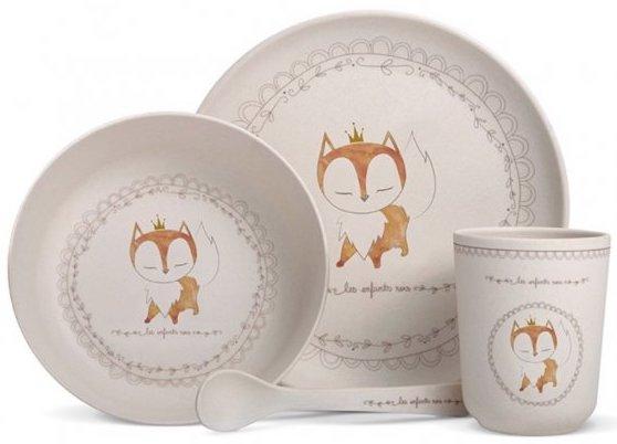 Coffret vaisselle bambou renard