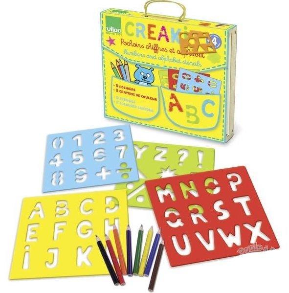 Pochoirs pour apprendre à écrire les chiffres et les lettres