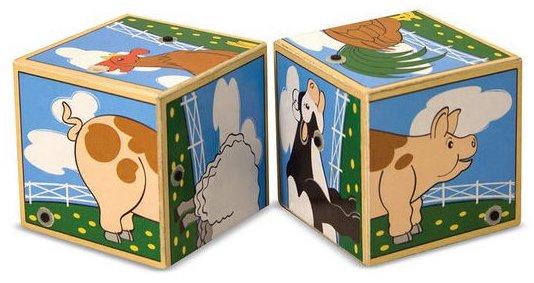 Cubes sonores avec les animaux de la ferme