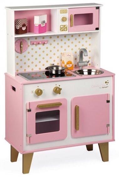 Cuisine en bois rose pour les filles
