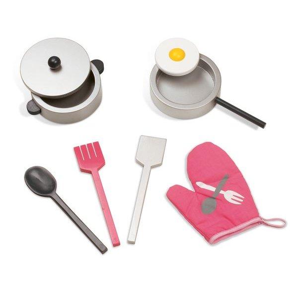 Cuisine en bois accessoires de dinette pour jouer