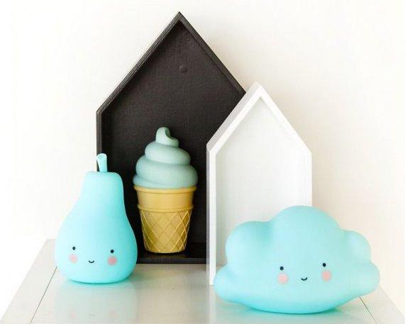 Décoration pour chambre d'enfant blanc turquoise