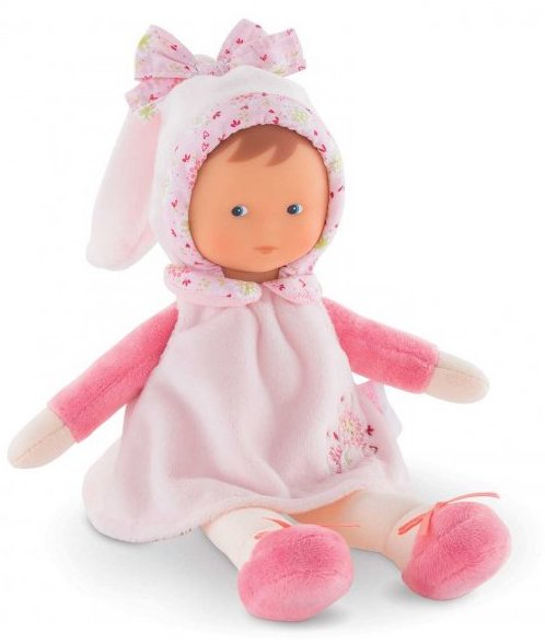 Doudou poupée en tissu Corolle pour bébé