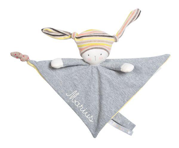 Doudou personnalisable pour bébé avec prenom