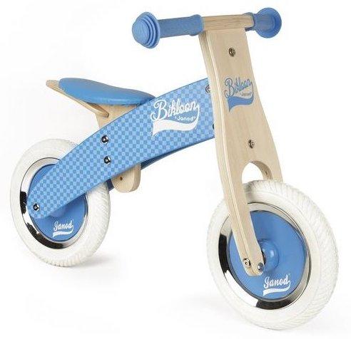 Draisienne en bois bleu pour les enfants dès 2 ans
