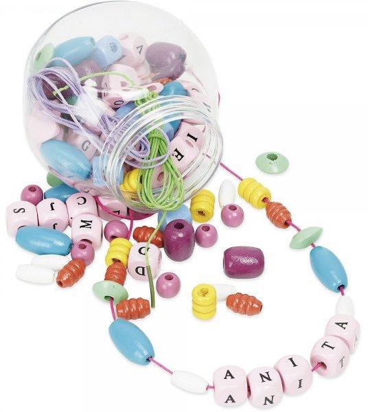 Ecrire son prénom avec des perles en bois