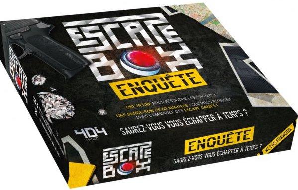 Jeu de société Escape Game pour adultes enquête
