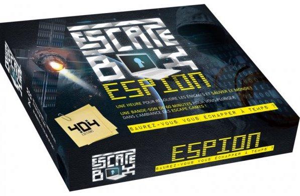Escape game jeu de société sur le thème espions