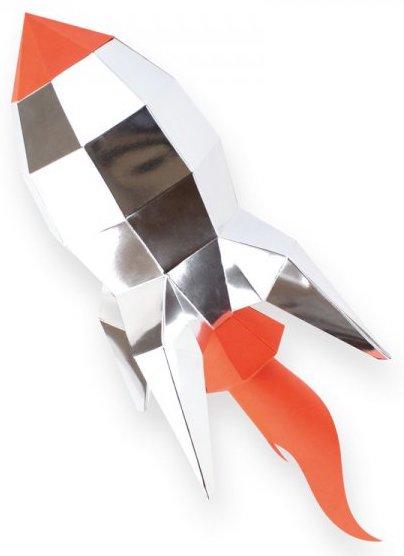 Fusée en papier 3D - Agent Paper