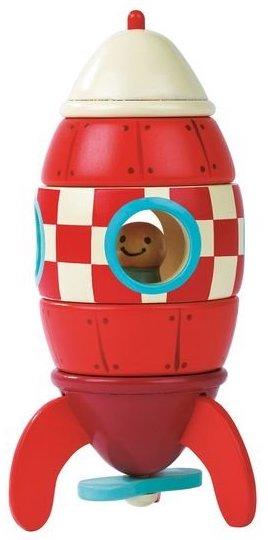 Fusée magnétique en bois pour les enfants