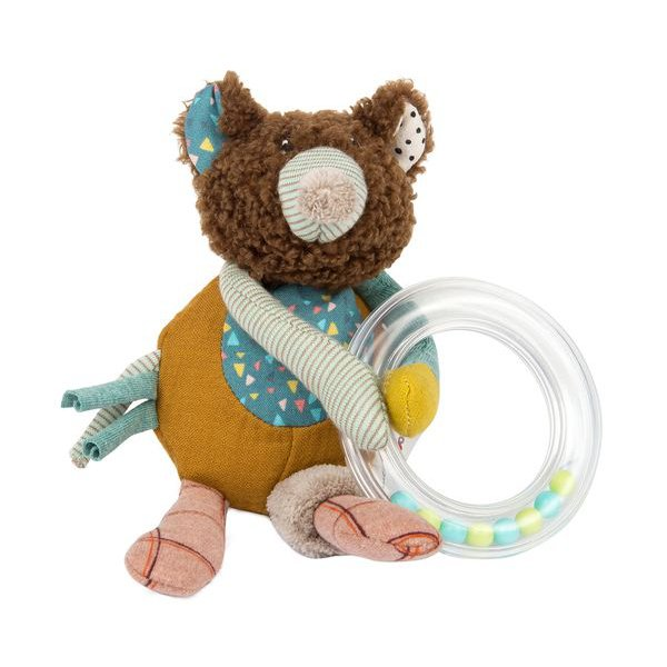 Hochet ours brun Moulin Roty