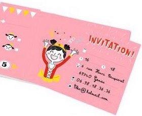 Cartes d'invitation pour un goûter d'anniversaire