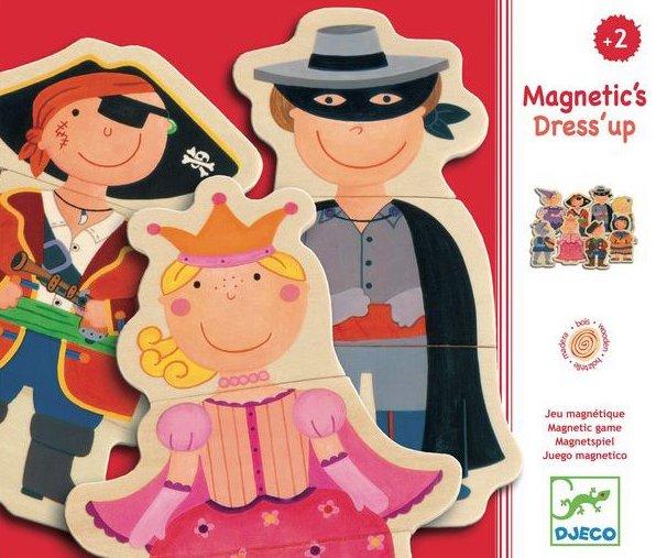 Magnets en bois pour former des personnages