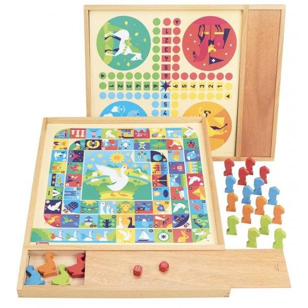 Coffret de jeux traditionnels en bois