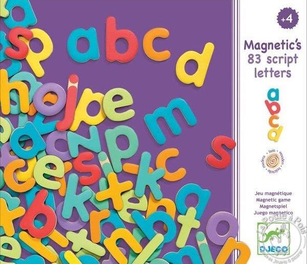 Lettres magnétiques minuscule pour les enfants