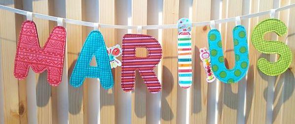 Lettre en tissu Lilliputiens pour chambre d'enfant