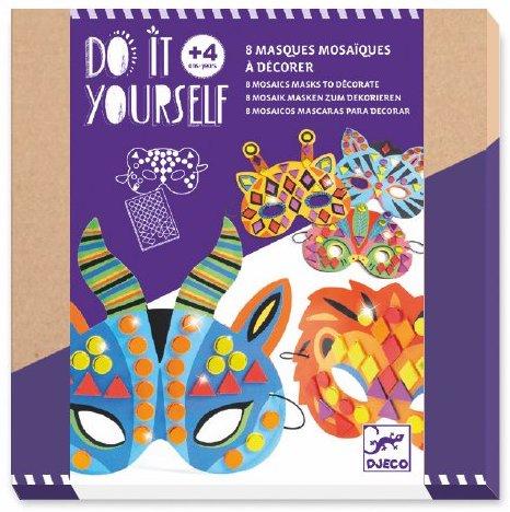 Masques mosaïques à décorer de Djeco