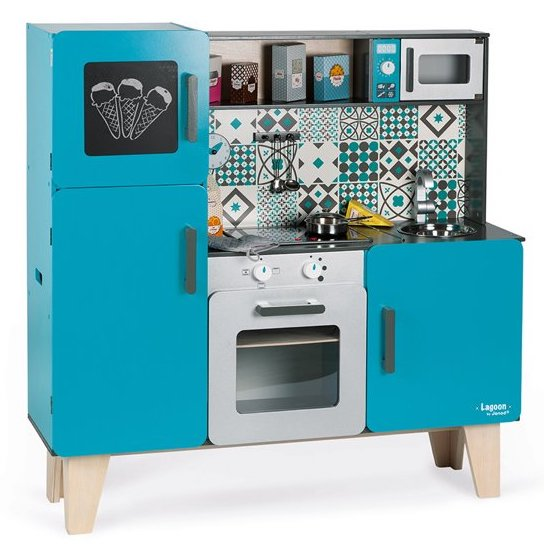 Maxi cuisine bleu en bois pour enfant