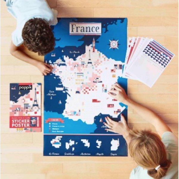 Mosaique de couleur représentant la France