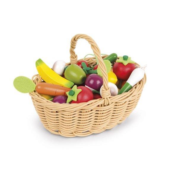 Fruits et légumes panier pour jouer marchande