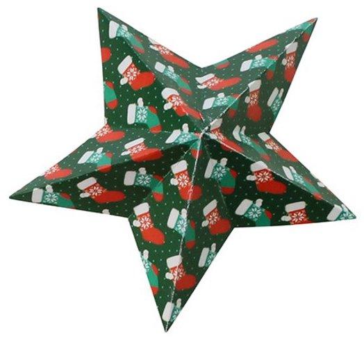 Feuilles d'origami sur le thème de Noel
