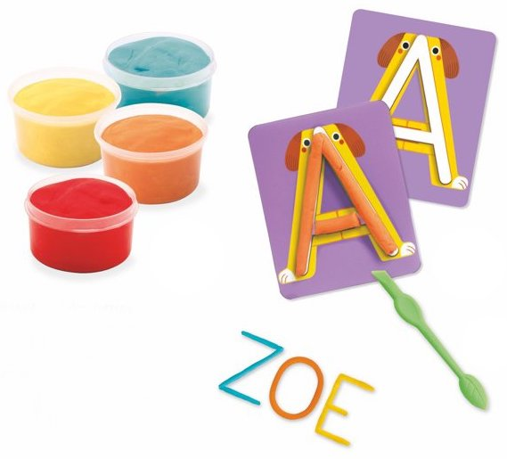 Pâte à modeler pour apprendre à faire les lettres