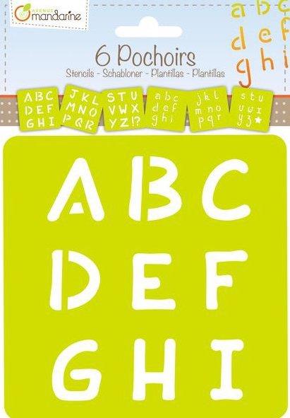 Pochoirs Alphabet pour apprendre à écrire les lettres