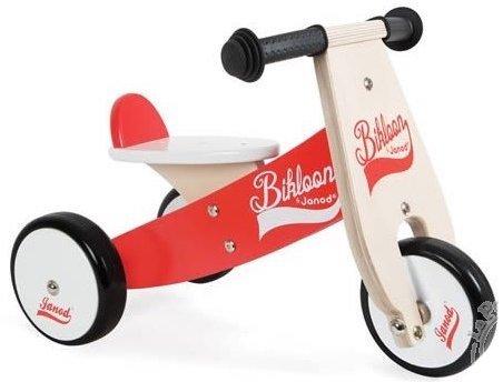 Porteur en bois en forme de moto à 3 roues pour enfant