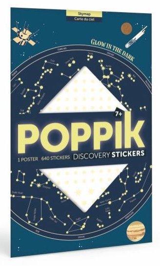 Poster en stickers sur le thème de l'espace