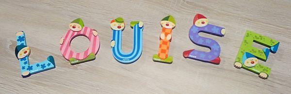 Lettres en bois pour chambre d'enfant